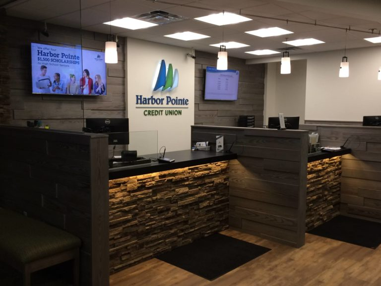 Harbo Pointe Credit Union lobby area