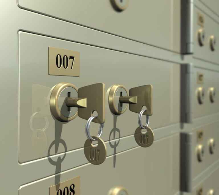 Safe Deposit Boxes with keys