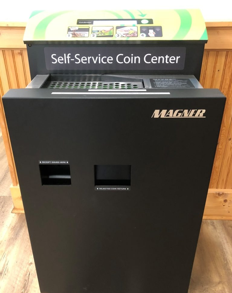Turn your loose change into cash with our self-server coin counter! You can find a change machine at our convenient Harbor Pointe Credit Union locations.